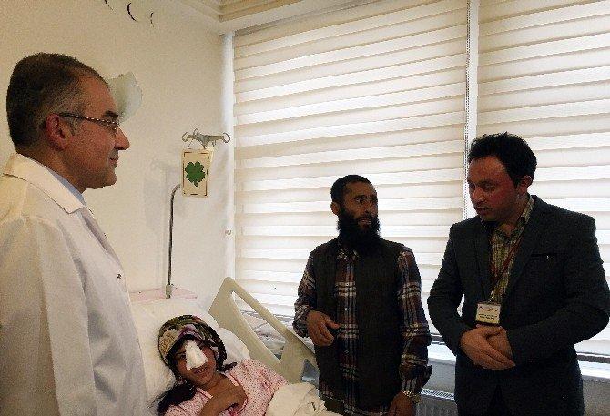 Burnu Kesilen Afgan Kadın Ankara'ya Getirildi