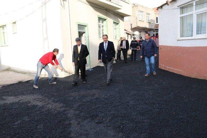 Sinop'ta Asfaltlama Çalışması