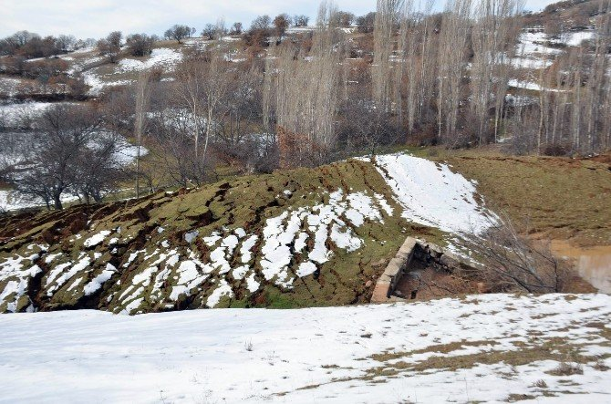 Sivas'ta Heyelan