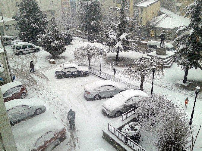 Tekirdağ'da Yoğun Kar Yağışı