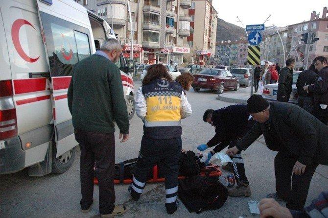 Engelli Aracına Otomobil Çarptı: 1 Yaralı