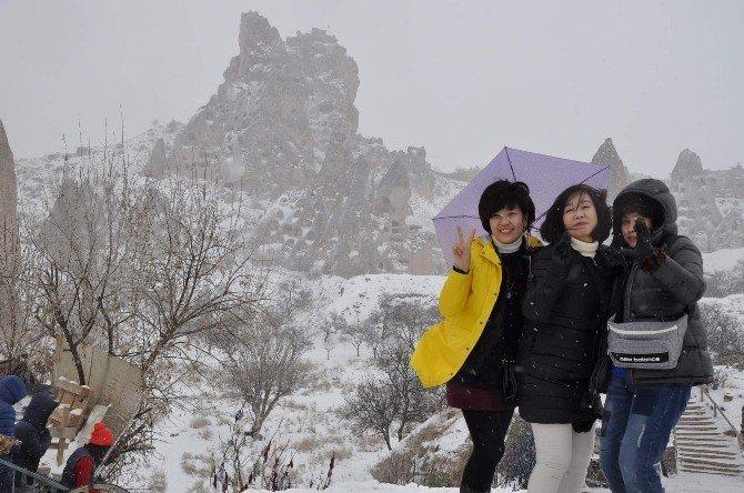 Kapadokya'yı Ocak Ayında 45 Bin Yerli Ve Yabancı Turist Ziyaret Etti