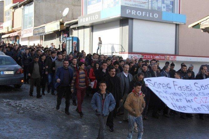 Başkale'de 'Cizre' Protestosu