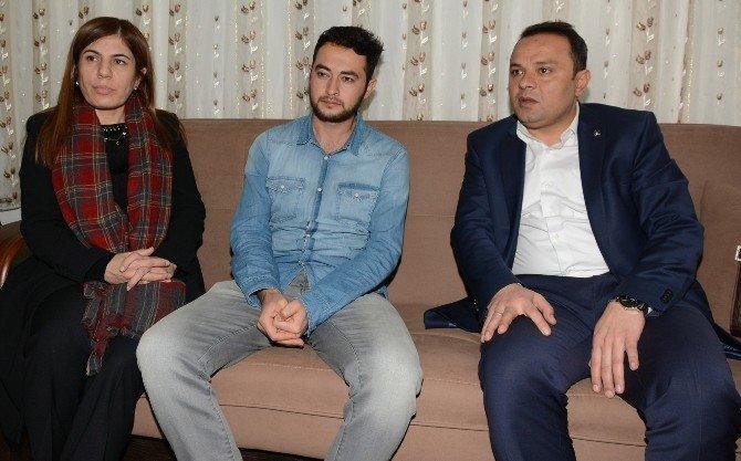 AK Partili İnceöz'den Yaralı Polise Ziyaret