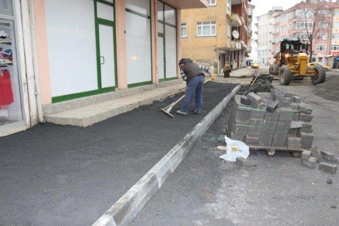 Akçakoca İstiklal Caddesinde Çalışmalara Başlanıldı