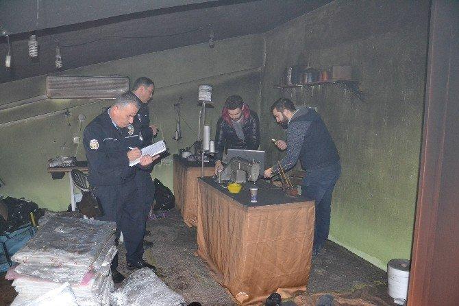 Aydın'da İş Yeri Yangını Paniğe Neden Oldu