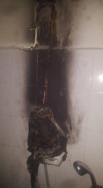 Çine'de Şofben Yangını Ucuz Atlatıldı