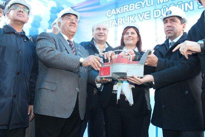 Çakırbeyli'de Miting Gibi Temel Atma Töreni