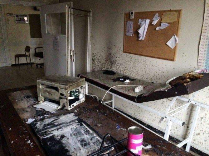 Sağlık Merkezine Molotoflu Saldırı