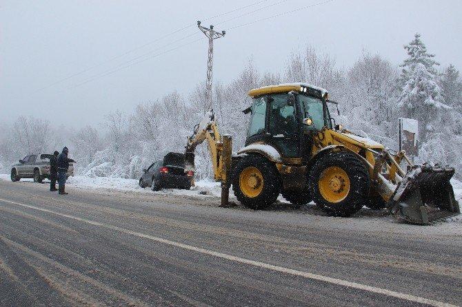 Zonguldak'ta Kar Yağışı Etkili Oldu