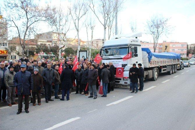 AK Parti Çanakkale İl Teşkilatından Bayırbucak Türkmenleri'ne Yardım Tırı