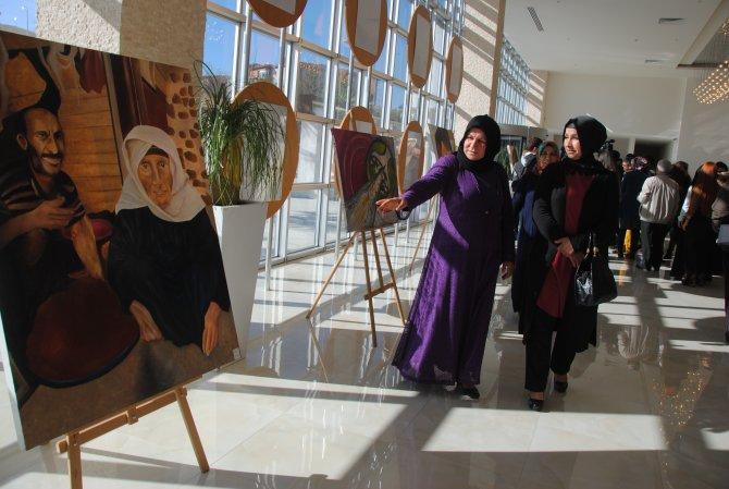 Resim bölümü öğrencilerinden sergi