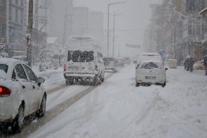 Yüksekova'da yoğun kar ulaşımı olumsuz etkiliyor