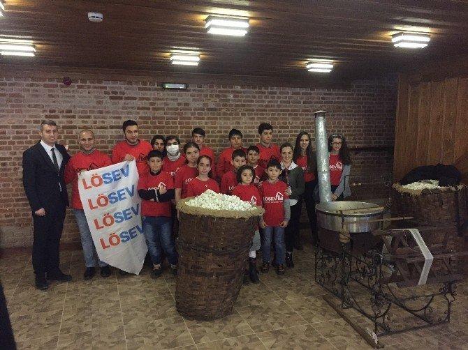 LÖSEV'li Çocuklar İpek Çekimini Öğrendiler