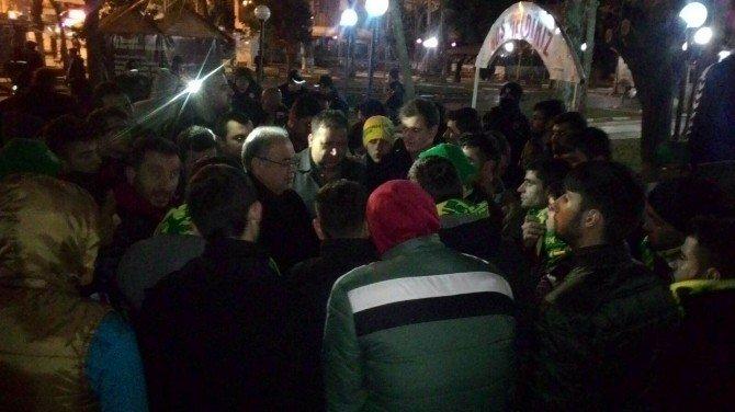 Adıyaman'da Elaziz Belediyespor Taraftar Ve Yöneticilerine Tepki