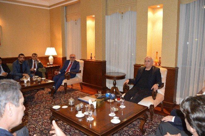 Ekonomi Bakanı Elitaş Türkmenistan'da