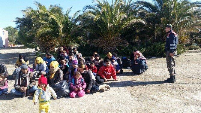 71 Göçmen Ölüm Yolculuğuna Başlamadan Yakalandı