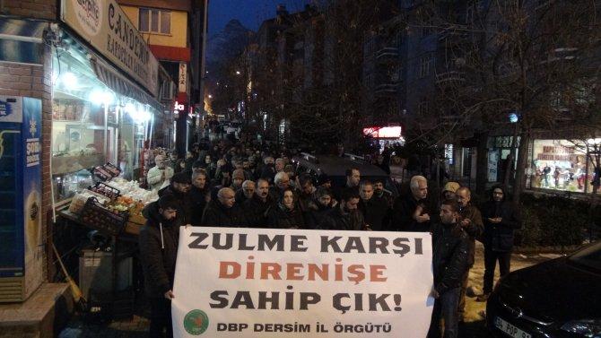 Tunceli'de Cizre protestosu
