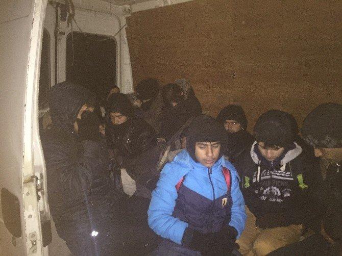Edirne'de 112 Kaçak Göçmen Yakalandı