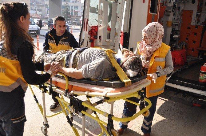 Çatıdan Düşen Genç İşçi Yaralandı