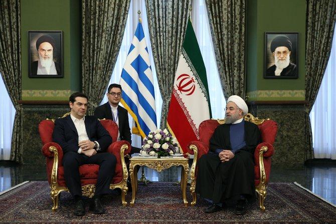 İran Cumhurbaşkanı Ruhani, Çipras ile görüştü