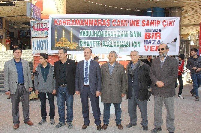 Abdulhamidhan Camii'nin Diyanet'e Devri İçin İmza Kampanyası