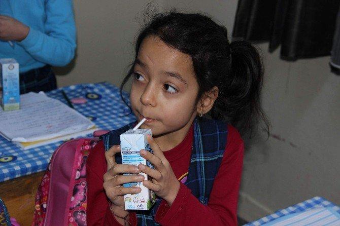 Manisa'da 93 Bin Öğrenciye Süt Dağıtıldı
