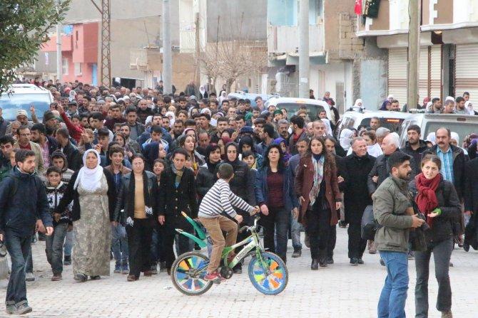 Nusaybin'de Cizre yürüyüşü