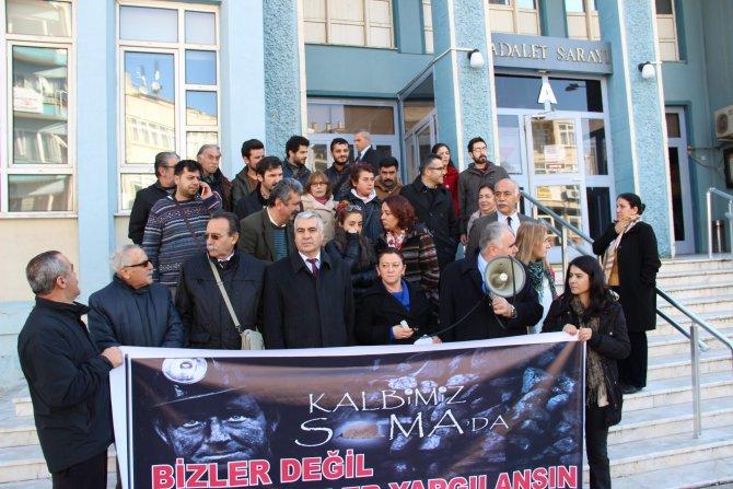 Aydın'da Soma eylemi yapan 44 kişi hakim karşısına çıktı