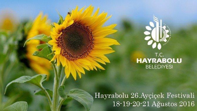 Hayrabolu 26. Ayçiçeği Festivali 18-21 Ağustos Tarihlerinde Yapılacak