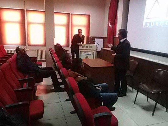 Arpaçay'da Servis Şoförlerine Trafik Eğitimi Verildi
