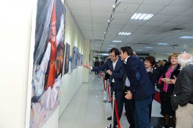 Uluslararası ressamların eserleri büyük beğeni topladı