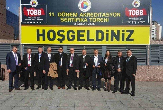 İtso Yönetimi TOBB 11. Dönem Akreditasyon Sertifika Törenine Katıldı