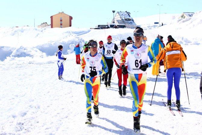Erciyes'te kayaklı koşu elemeleri yapıldı