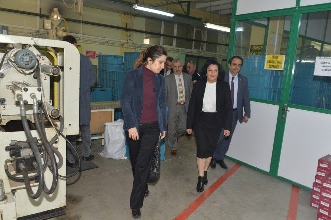Vali Civelek OSB'de Üretim Tesislerini Ziyaret Etti