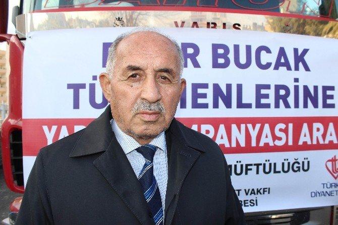Bayırbuçak Türkmenlere 1 Tır Dolusu Kuru Gıda Gönderildi