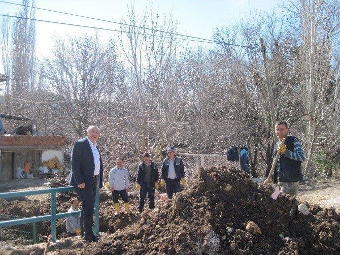 Burdur Ağlasun'da Kanalizasyon Çalışması
