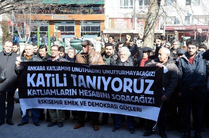 Ankara'daki Saldırıda Ölenler Anıldı