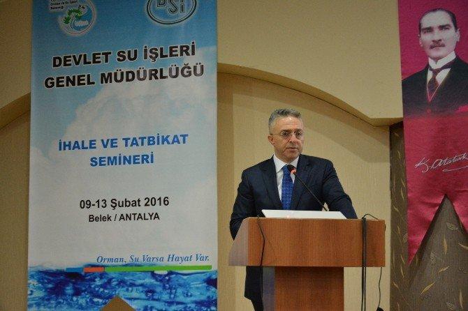 """DSİ """"İhale Ve Tatbikat Semineri"""" Antalya'da Başladı"""