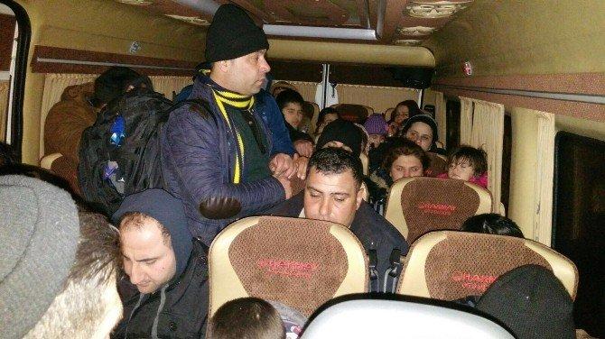 Edirne'de 115 Kaçak Göçmen Yakalandı