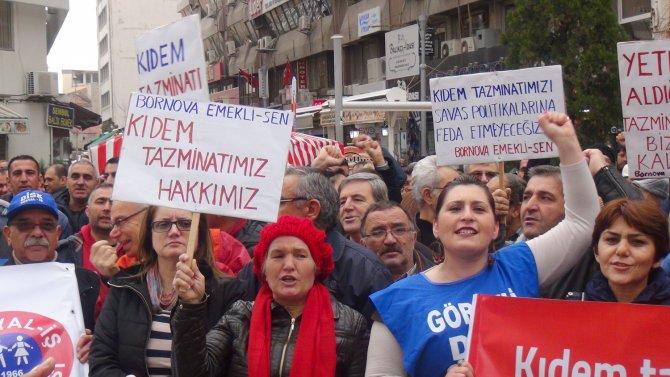 Kıdem tazminatında sisteminde istenen değişiklik protesto edildi