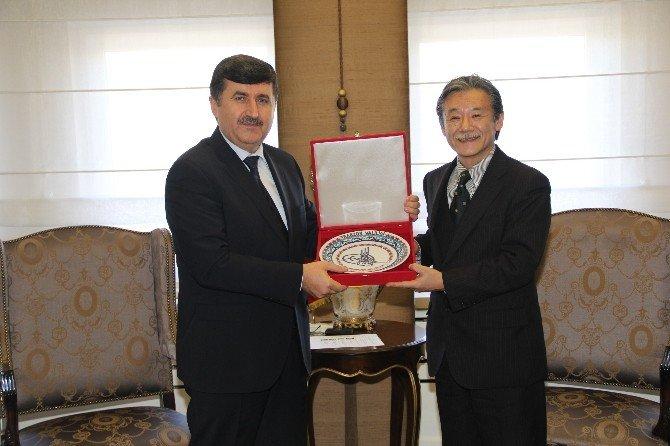 Japonya Uluslararası İşbirliği Ajansı Heyeti, Vali Öz'ü Ziyaret Etti