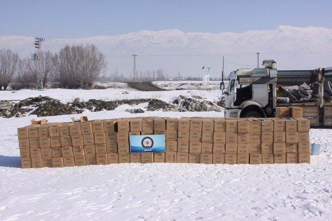 Erzincan'da 151 Bin Paket Kaçak Sigara Ele Geçirildi