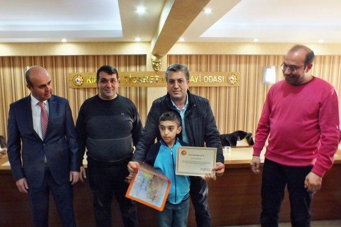 Kırşehir TSO resim yarışmasına katılan öğrencileri ödüllendirdi