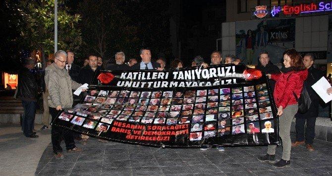 Ankara'daki Bombalı Saldırıda Ölenler Manisa'da Anıldı