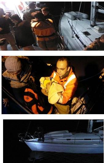 Denizde bir günde 417 göçmen kurtarıldı