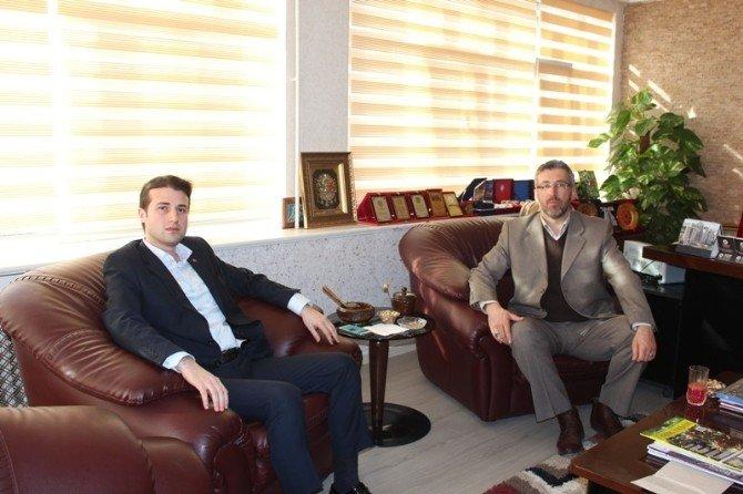 Sarıcakaya Kaymakam Vekili Cıdıroğlu'dan Başkan Güler'e Ziyaret