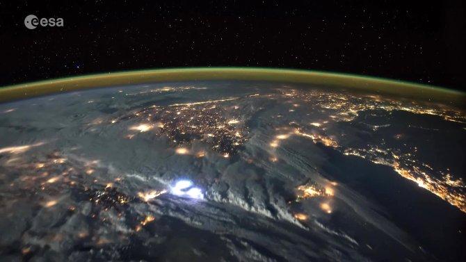 Türkiye üzerinden uçan astronotun çektiği görüntüler büyüledi