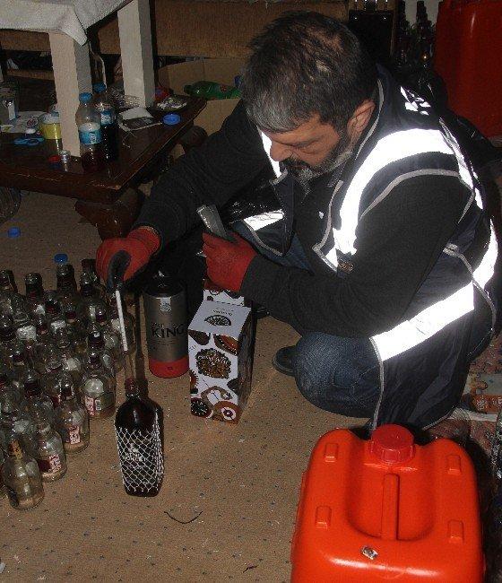 Adana'da Kaçak İçki Operasyonu