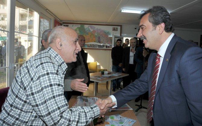 Başkan Çetin, emekli evini ziyaret etti